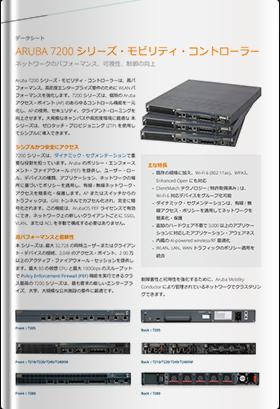 ARUBA 7200シリーズ・モビリティ・コントローラー